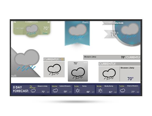 Sample Weather Widget