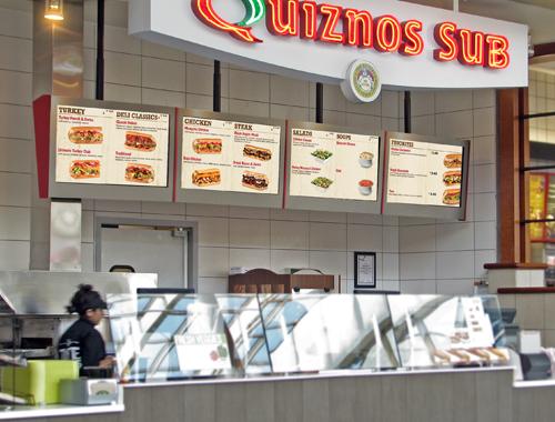 Quiznos Digital Menu Boards